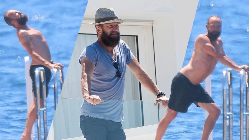 //sting shirtless boat pp