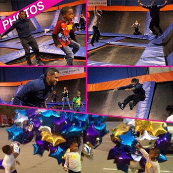//usher birthday trampoline