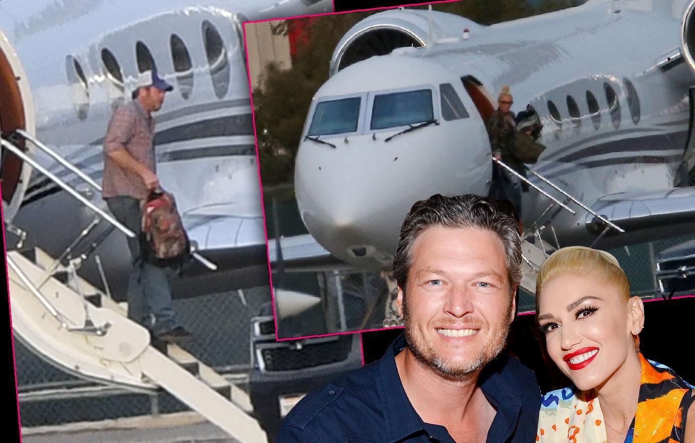 Gwen Stefani Blake Shelton Fly On Private Jet Before Easter
