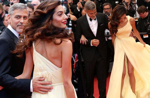 Amal Clooney Wardrobe Malfunction Marilyn Monroe Skinny