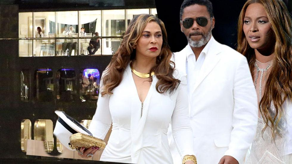 //beyonce mother wedding tina knowles scientology photos