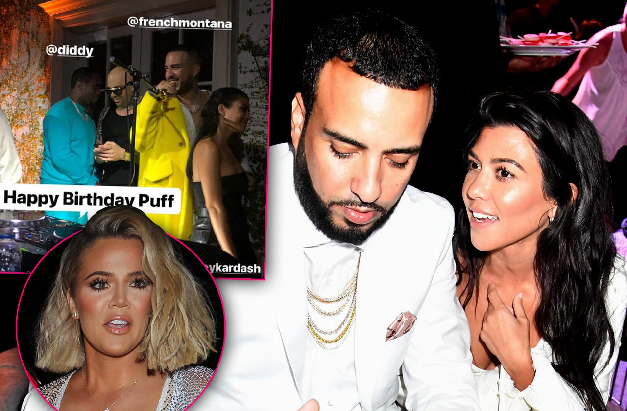 kourtney kardashian caught flirting dancing french montana shocking photo