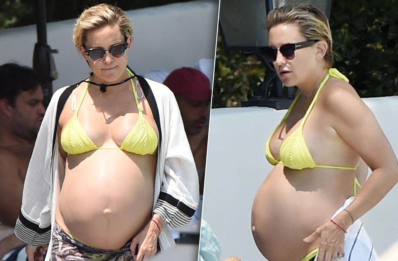 Kate Hudson Pregnant Baby Bump Bikini