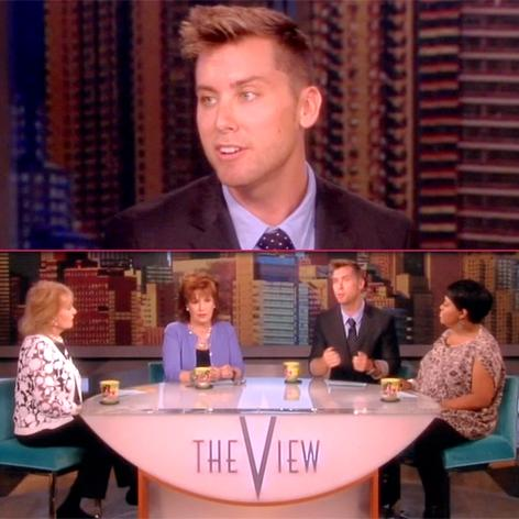 //lance bass the view