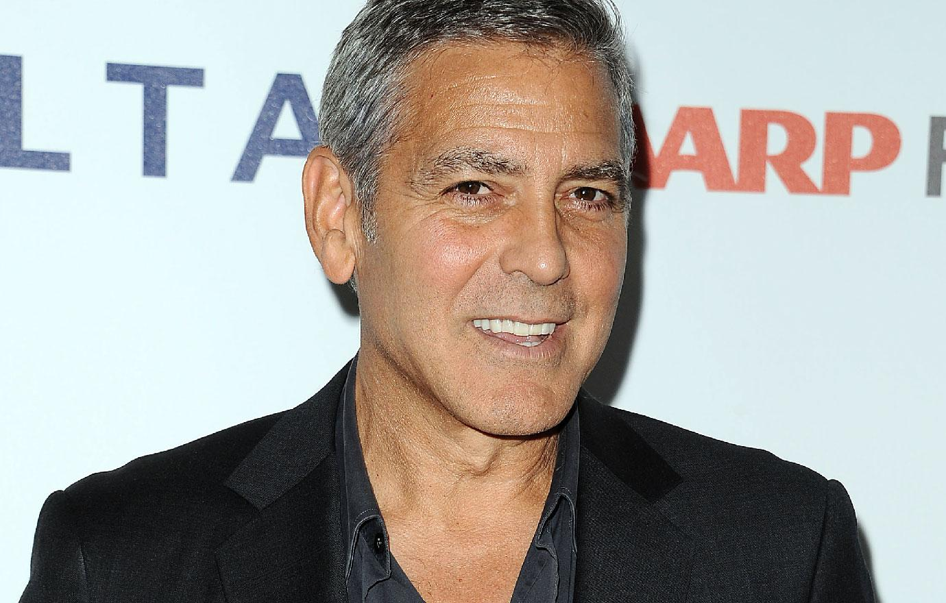 George Clooney Great on set