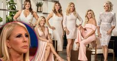 RHOC New Cast Photo With Inset Of Vicki Gunvalson Closeup Looking Upset Not In 'RHOC' Cast Pic