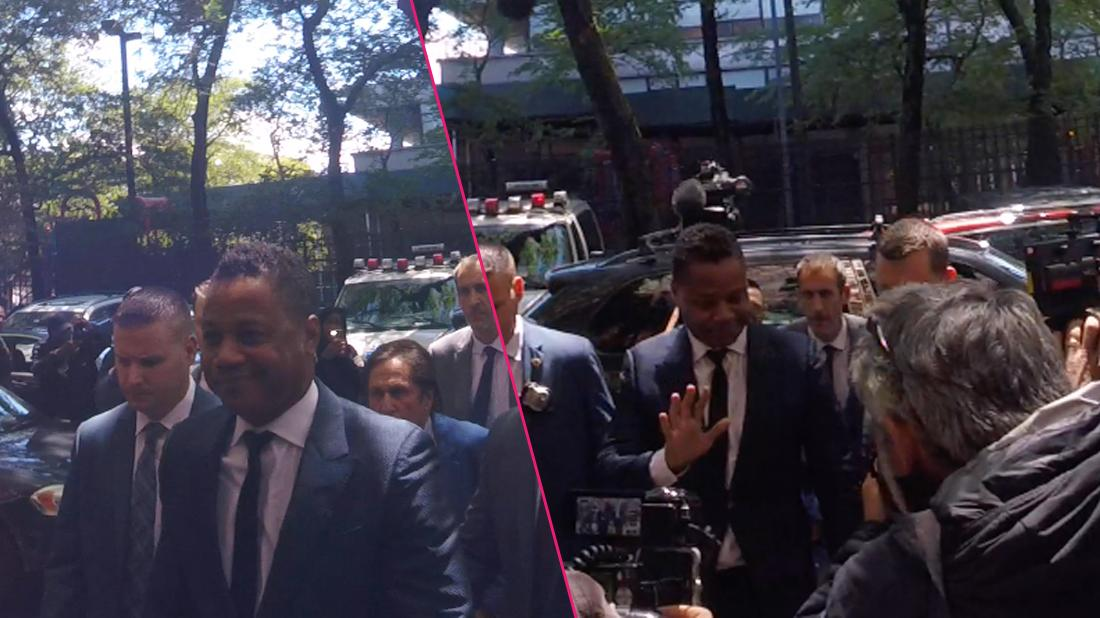 Cuba Gooding Jr. Surrenders Himself while wearing a blue suit To the NYPD On Groping Allegations.