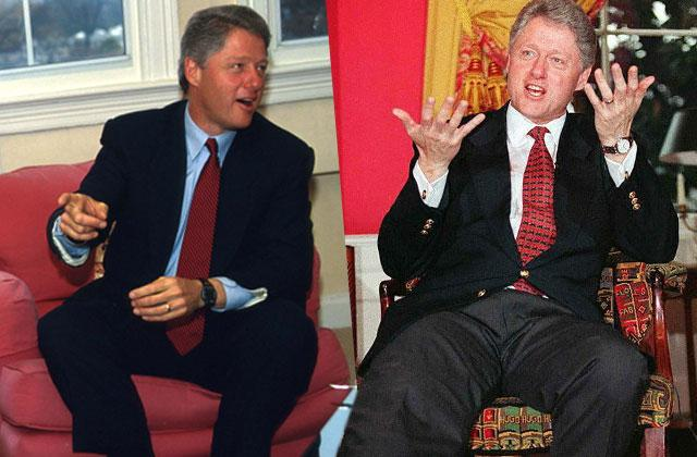 Bill Clinton Spreads Legs Manspreading Habit Presidential Election Photos