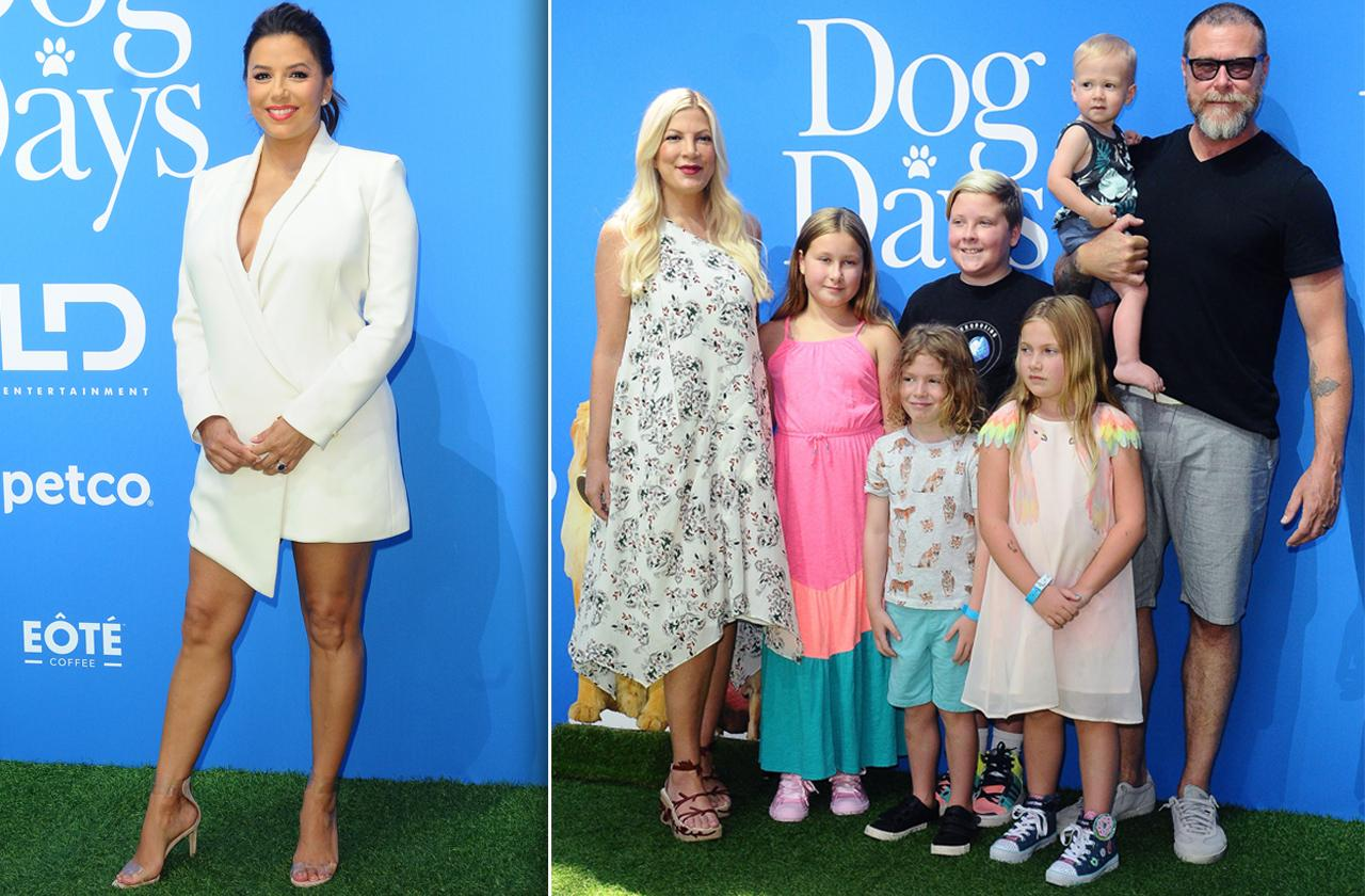 Dog Days Premiere. Eva Longoria, Tori Spelling and family.