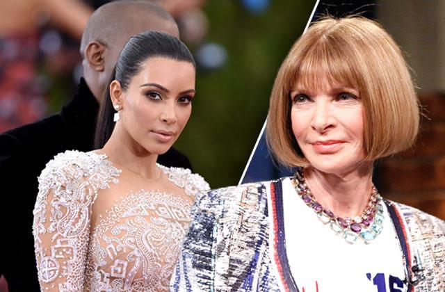 //Kim Kardashian Kanye West Met Gala Ana Wintour pp