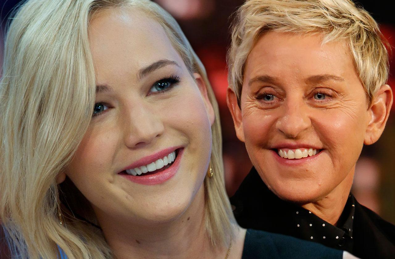 Jennifer Lawrence Ellen DeGeneres catfight smoking weed