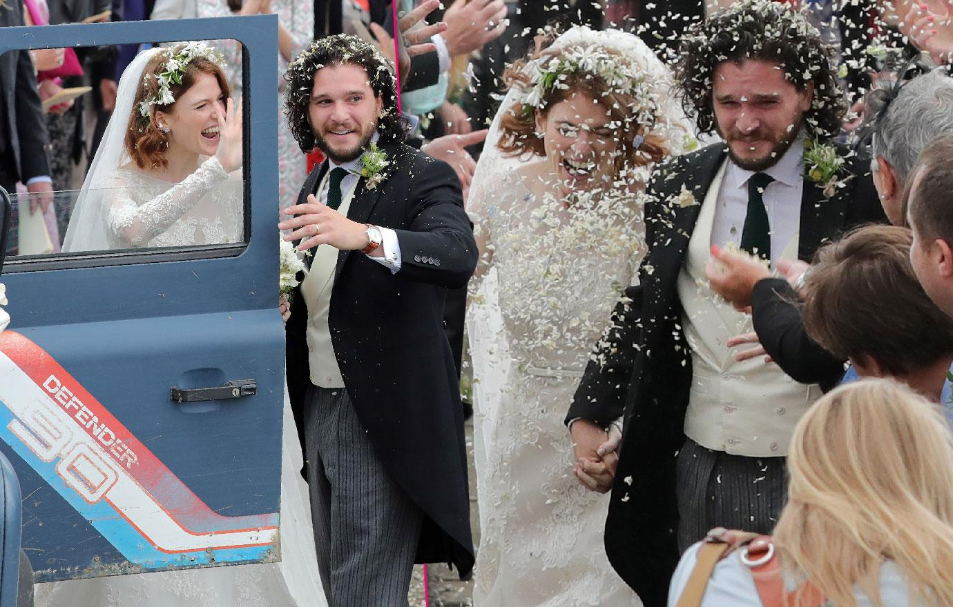 Kit Harington And Rose Leslie Marry In Scotland