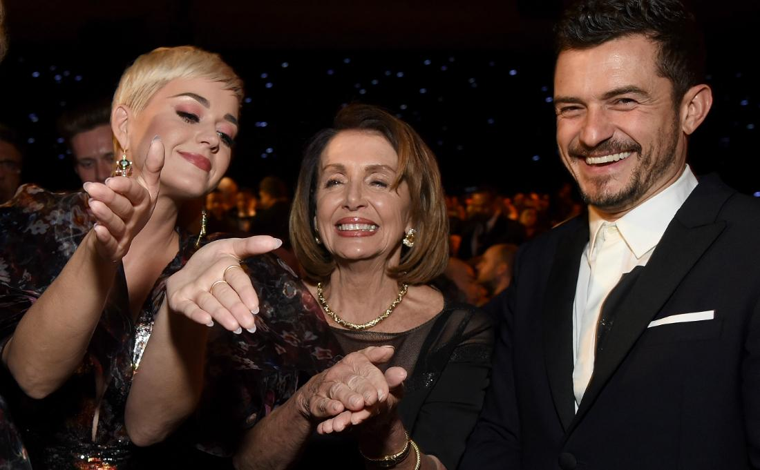 Katy Perry, Nancy Pelosi and Orlando Bloom attended MusiCares Person of the Year honoring Dolly Parton at Los Angeles Convention Center on February 8, 2019 in Los Angeles, California