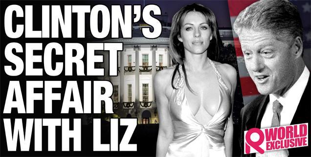 //bill clinton liz hurley affair secret tapes  wide