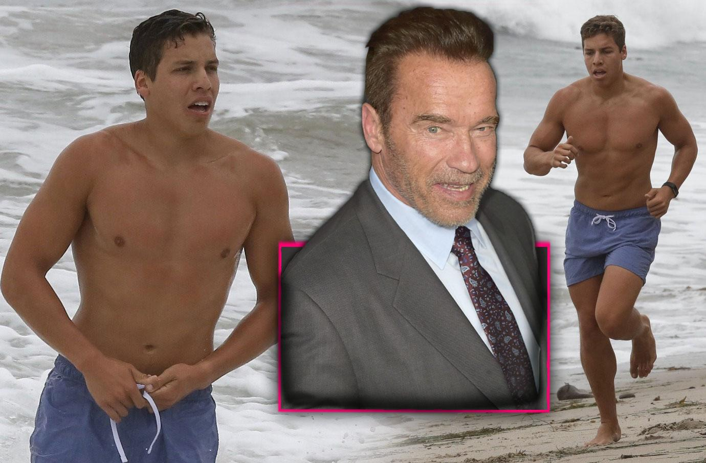 Arnold Schwarzenegger Son Joseph Baena Shows Off Buff Body