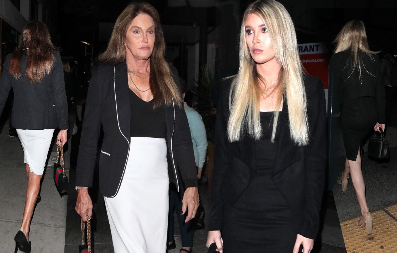 Caitlyn Jenner wears skirt night out with girlfriend Sophia Hutchins