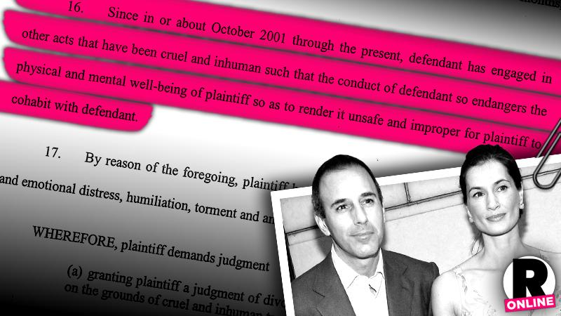//matt annette lauer divorce accuses cruel inhumane treatment pp sl