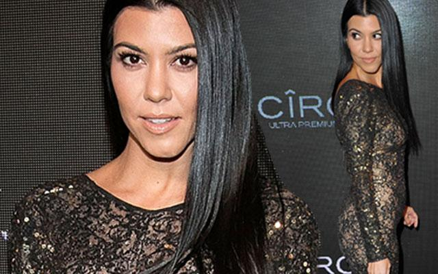 Kourtney Kardashian Photos Attends Diddy's Birthday Party