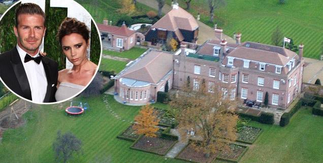 //david victoria beckham hertfordshire mansion wide wenn
