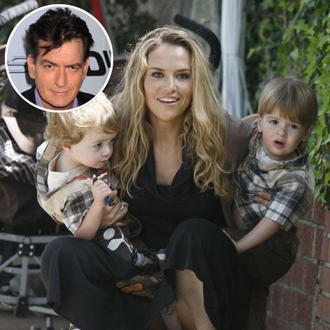 //brooke mueller twins charlie sheen square infgetty