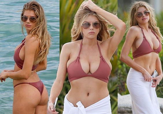 Charlotte McKinney Baywatch Bikini Boobs Butt Miami