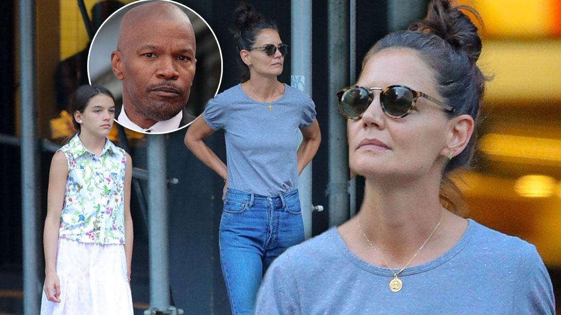 Katie Holmes Steps Out With Suri After Jamie Foxx Split