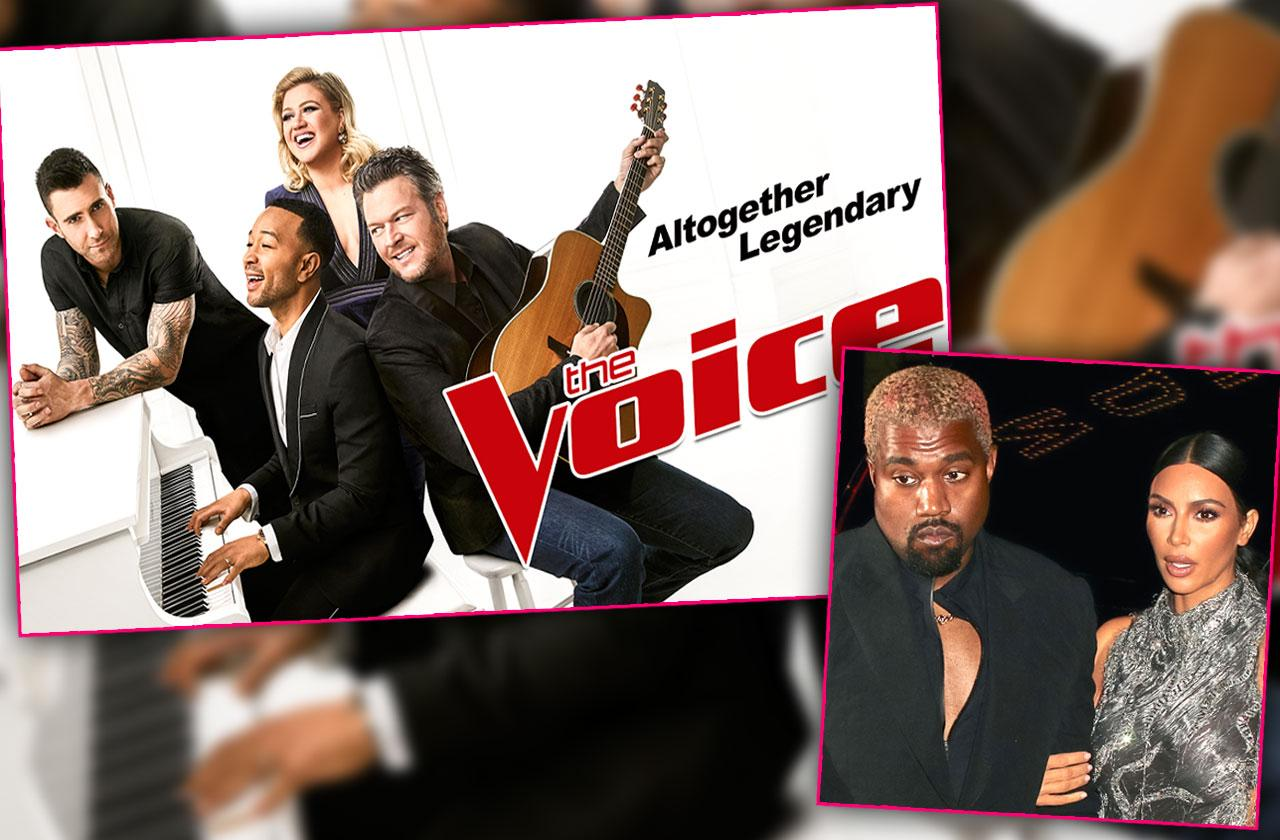 The Voice John Legend Kim Kardashian Kanye West