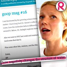 //gwyneth paltrow goop post science structure water sq