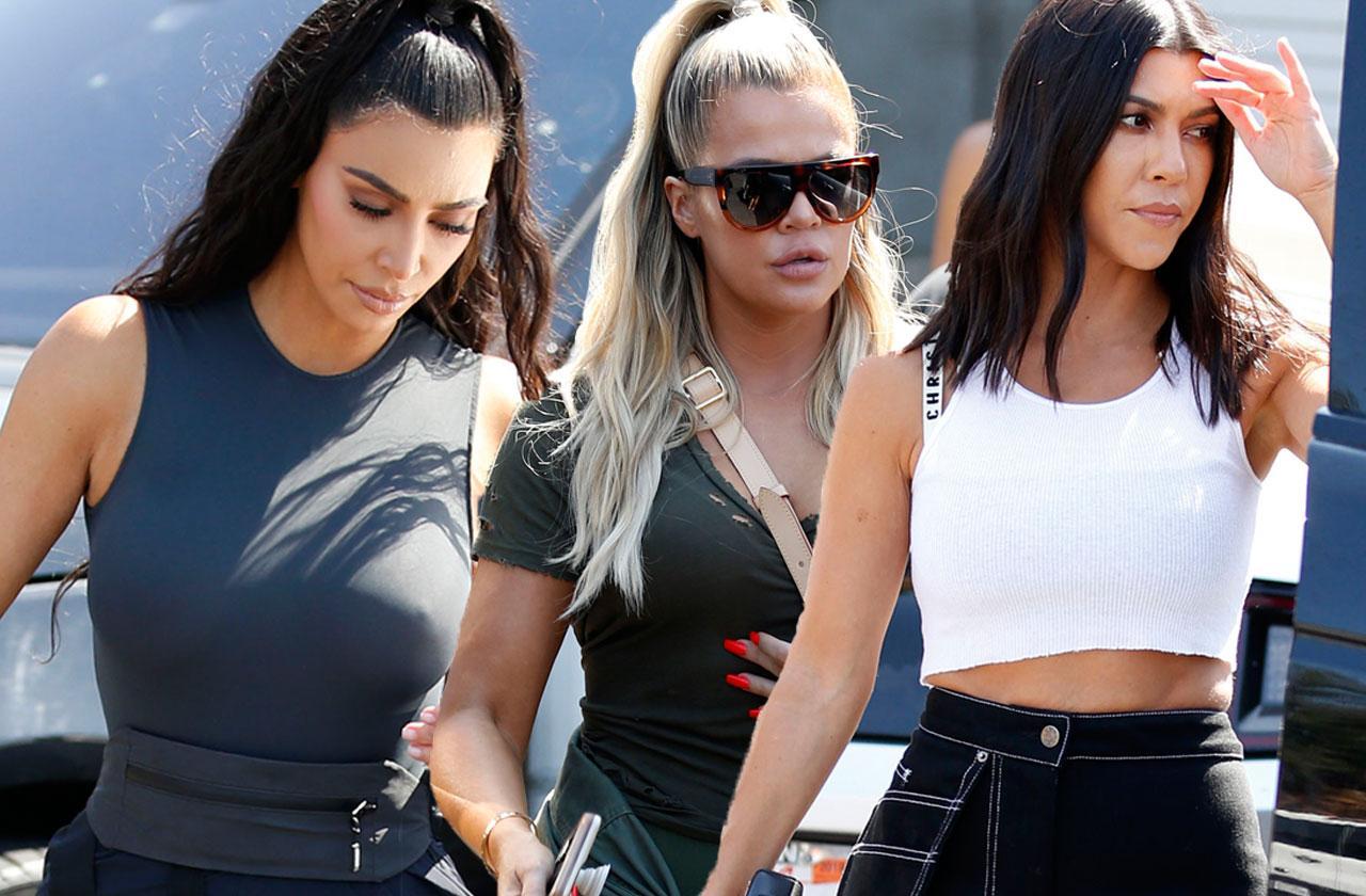 Kim Kardashian Sisters Spandex Bowling Alley