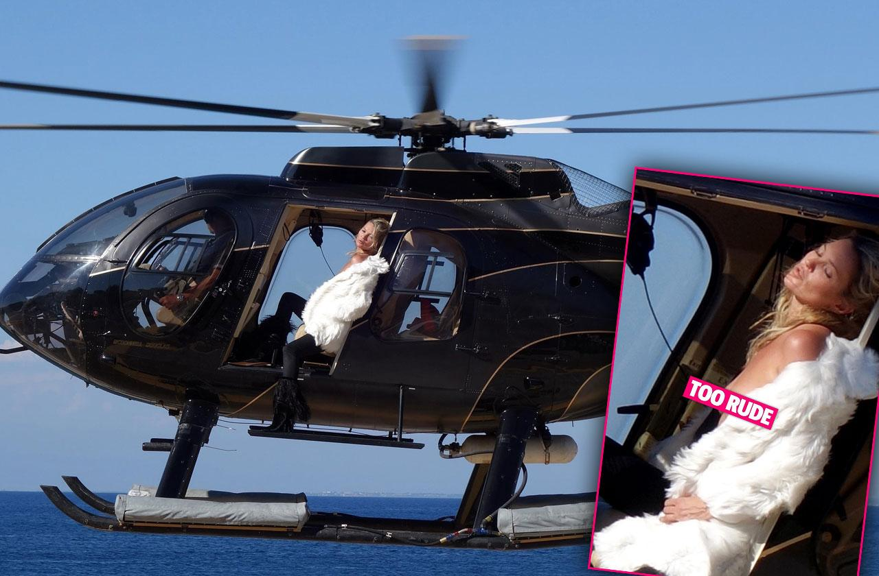 Kate moss wild nipples helicopter shoot