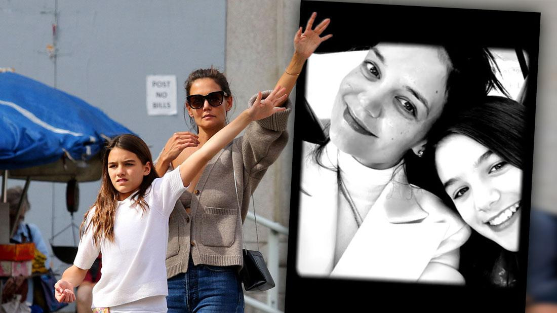 Katie Holmes Posts Photo With Her Mini-Me Suri Cruise