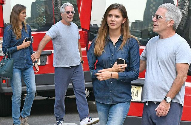 //jeffrey epstein mystery woman holding hands clinton election