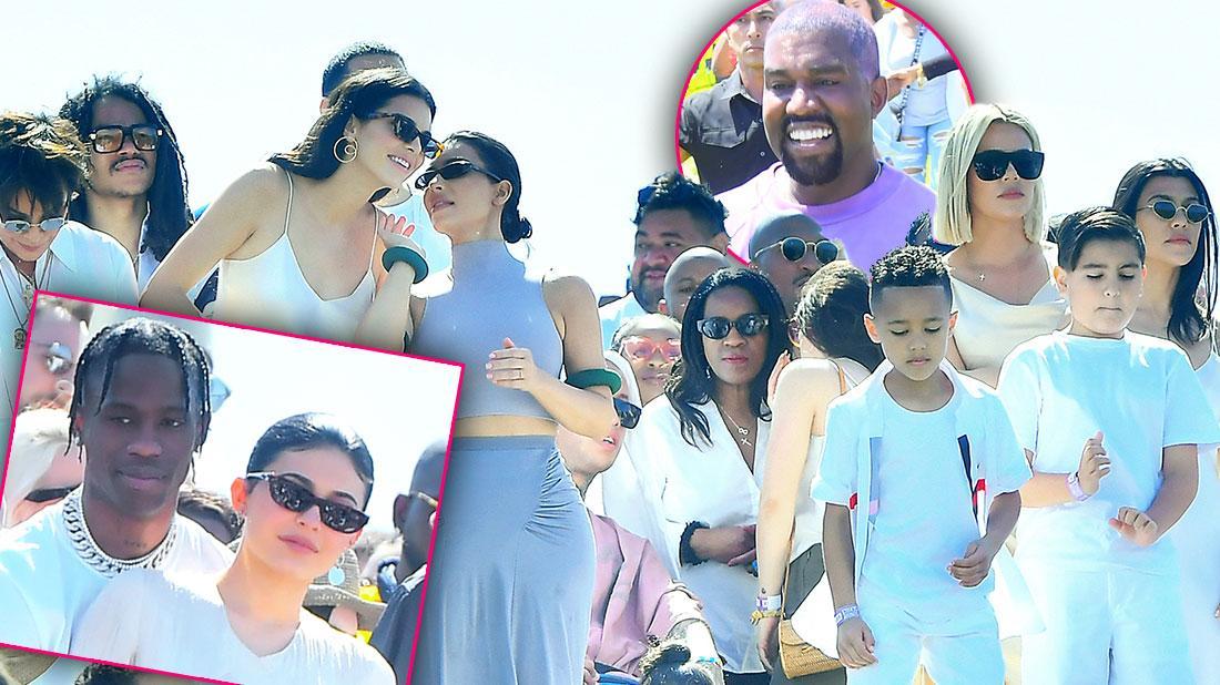 Kim Kardashian, Kanye & Family Host Sunday Service At Coachella