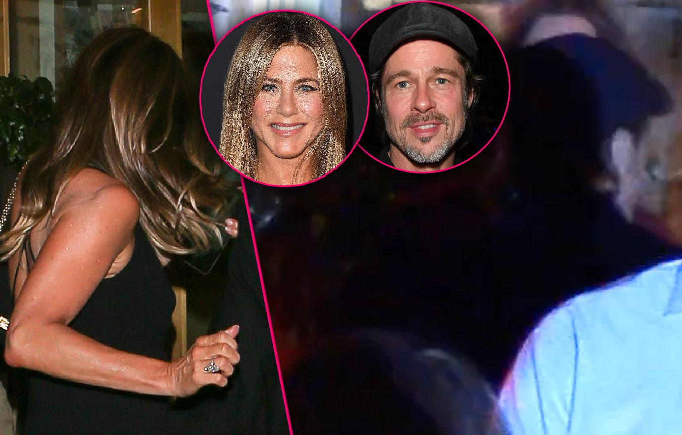 Brad Pitt Attends Ex Jennifer Aniston's 50th Birthday Party