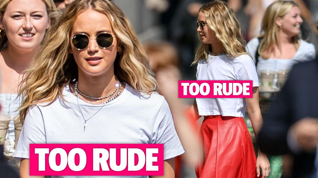 Hang Loose! Jennifer Lawrence Ditches Bra In Hollywood