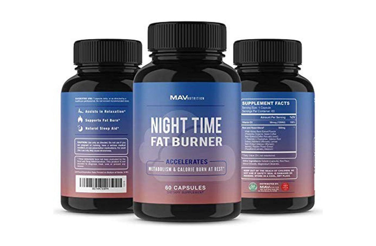 MAV Nutrition Night Time Fat Burner bottle