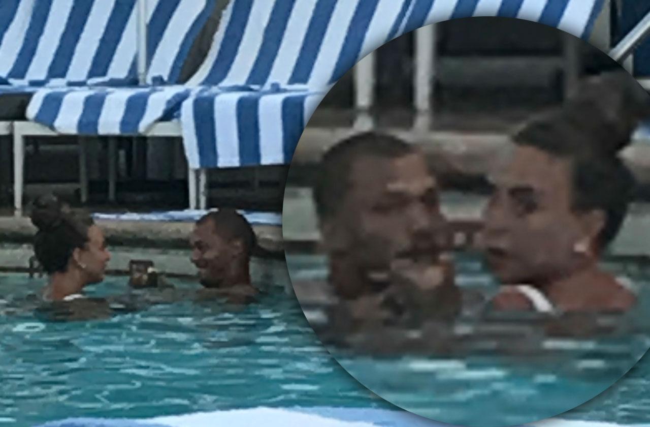 //Jeremy meeks hot felon chloe green kiss pool separation pp