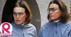 Bruce Jenner leaving an LA plastic surgeons office Adam's Apple