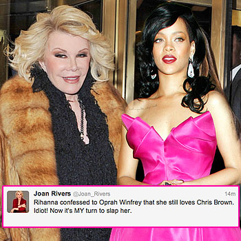 //joan rivers rihanna twitter war