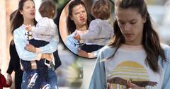 Alessandra Ambrosio No Makeup Santa Monica Errands With Son Noah