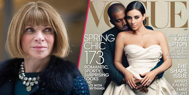 //anna wintour kim kardashian kanye west vogue