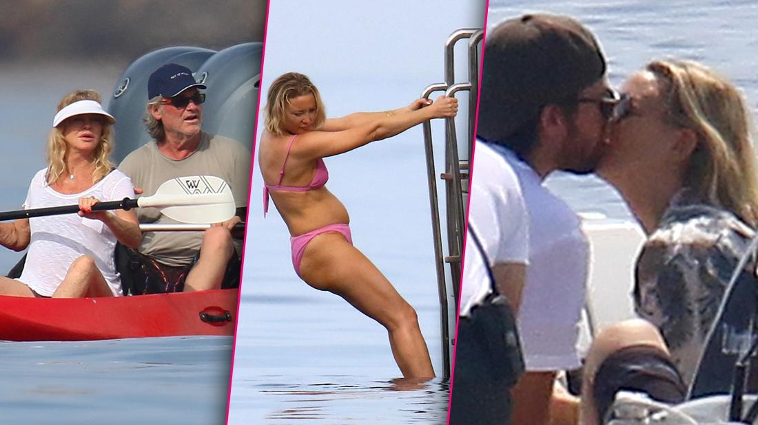Kate Hudson Boyfriend Goldie Hawn Kurt Russell Bikini-Clad Vacation