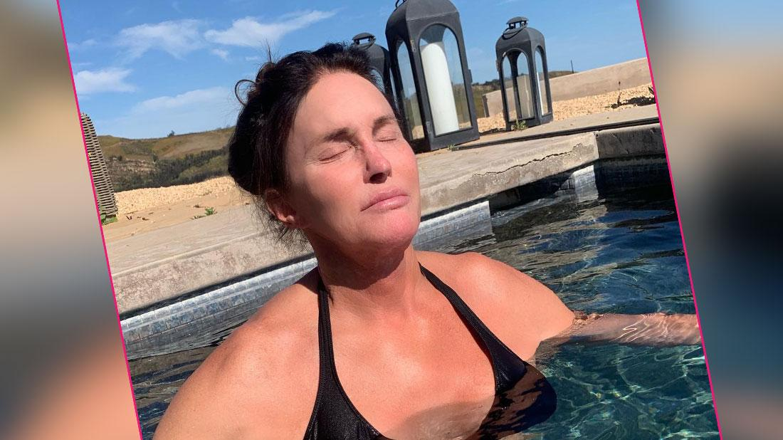 Caitlyn Jenner in the pool.