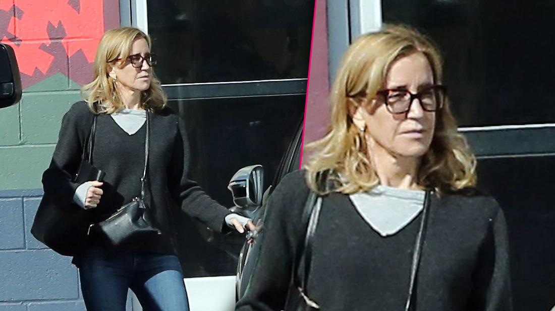 Felicity Huffman Spotted Outside Community Service Duties After Prison Stint