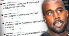 //kanye west tweets politcal vote democratic obama pp sl