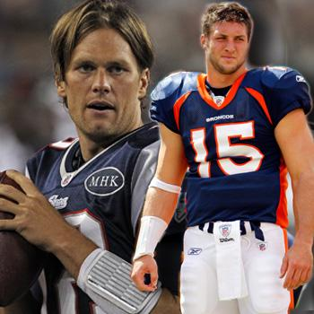 //tom brady time tebow face off nfl