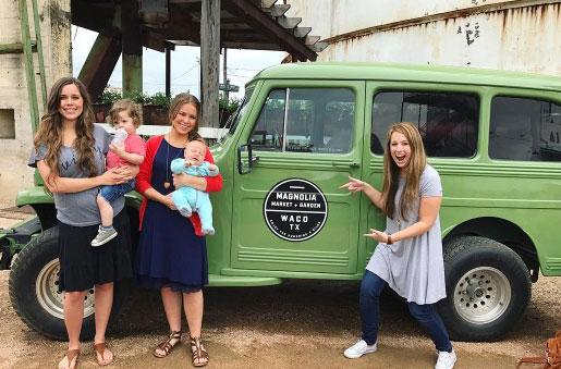 //duggar daughters chip joanna gaines visit pp