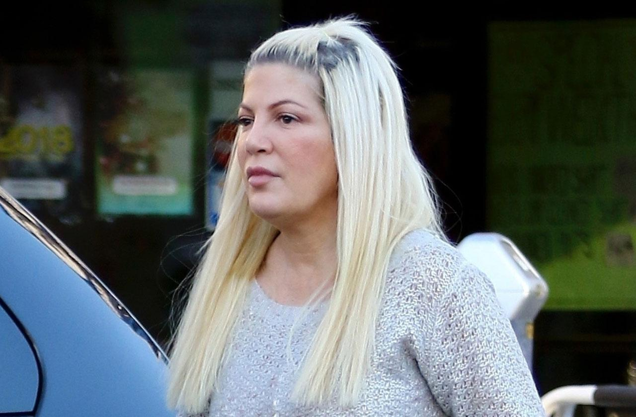 tori spelling court hearing debt postponed nervous breakdown 911 call