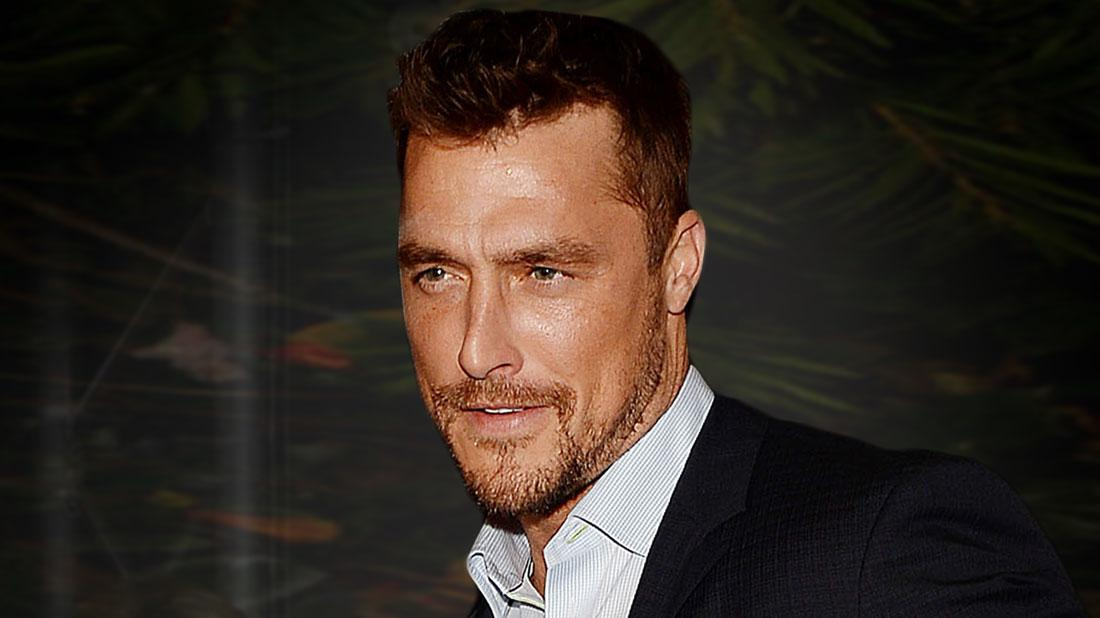 Close Up Of The Bachelor Chris Soules Wearing Dark Suit With Small Window Pane Dress Shirt