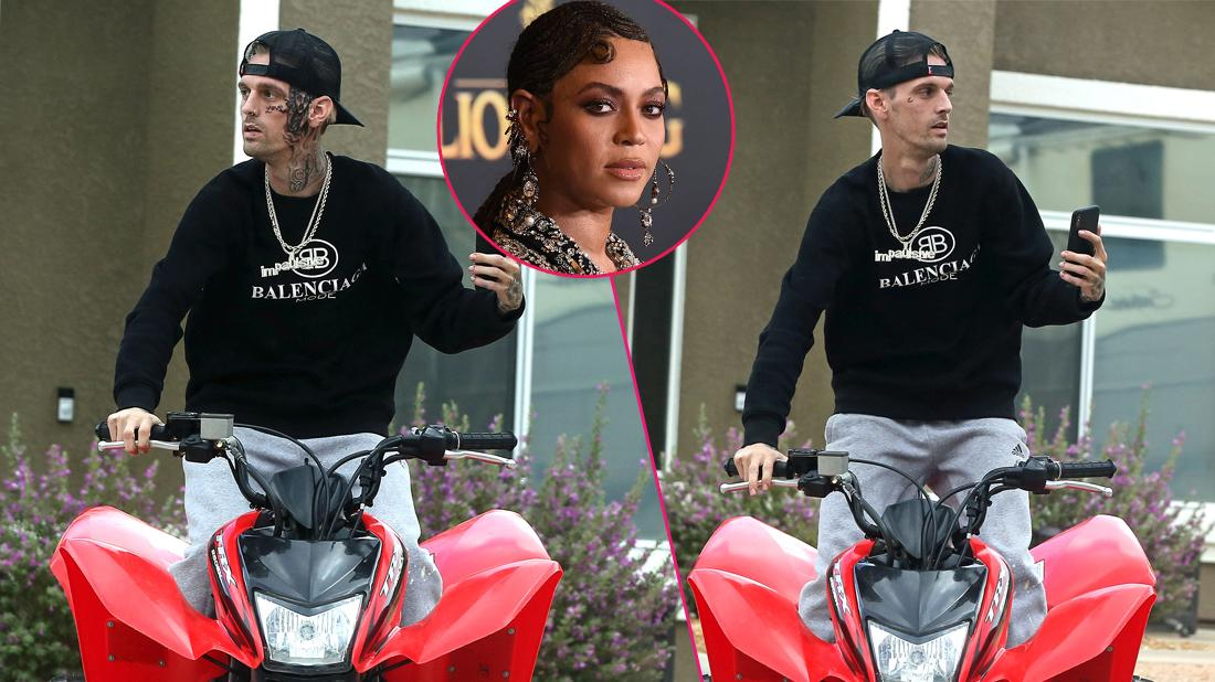 Aaron Carter Rides ATV After Getting New Face Tattoo And Ranting About Beyonce
